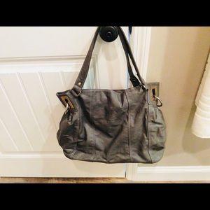 Charming Charlie Grey purse,crossbody strap